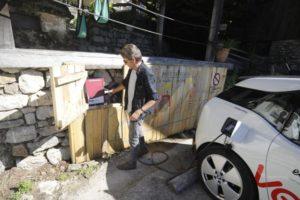 punto de carga coches electricos tierra del agua